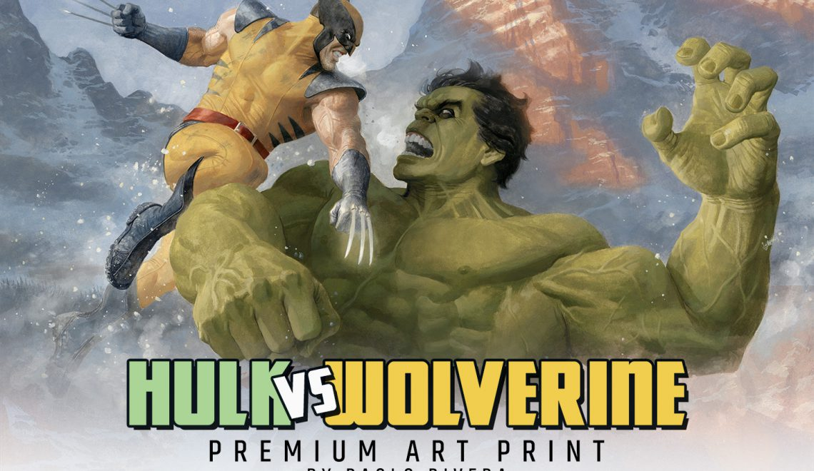 Hulk vs. Wolverine Premium Art Print by Sideshow Collectibles