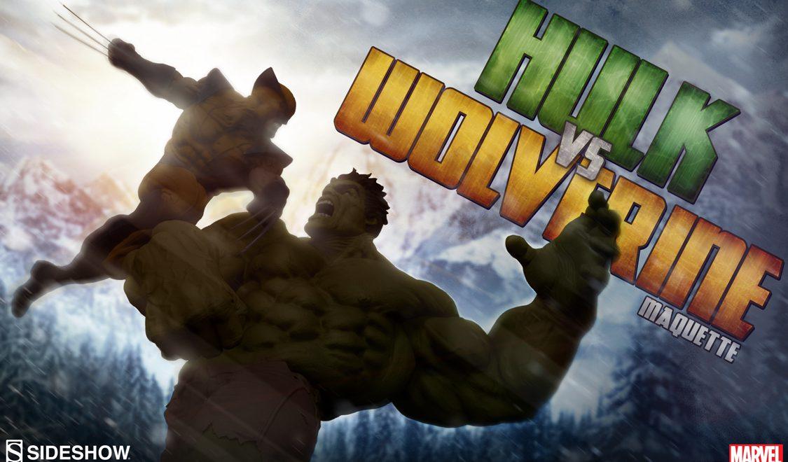 Hulk vs Wolverine Maquette